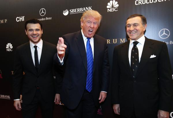 Emin Ağalarov, Donald Tramp və Araz Ağalarov