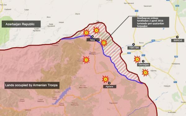2 aprel 2016-cı ildə Azərbaycan ordusunun Ermənistan işğalından azad etdiyi ərazilər