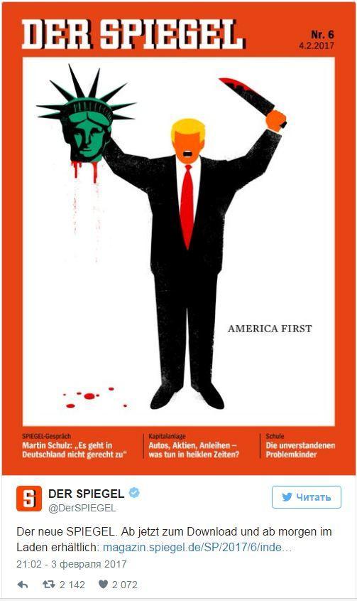 Der Spiegel jurnalının üz qabığı