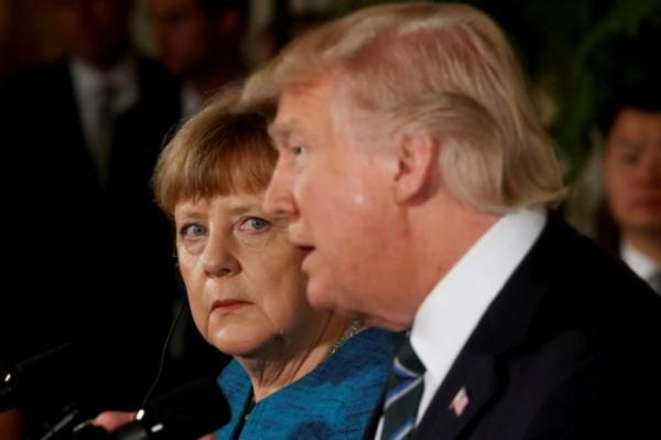 Donald Tramp və Angela Merkel