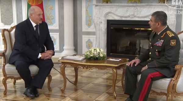 Aleksandr Lukaşenko və Zakir Həsənov - Minsk, oktyabr 2017-ci il