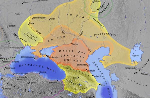 Xəzər xaqanlığının xəritəsi